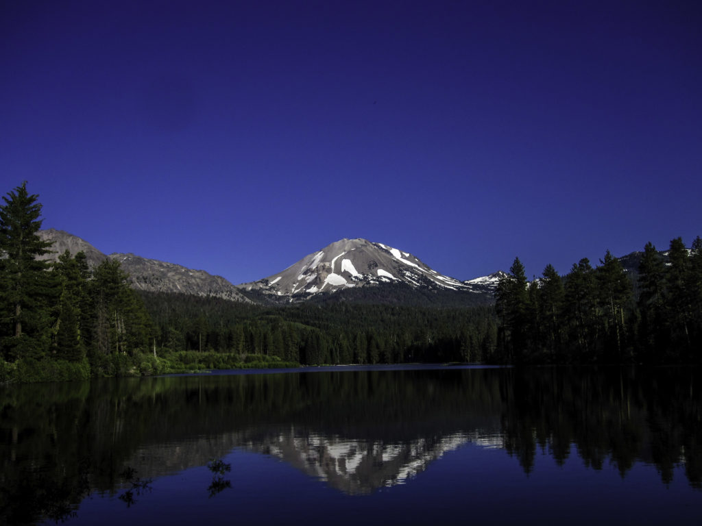 Mt Lassen over Manzanita Lake